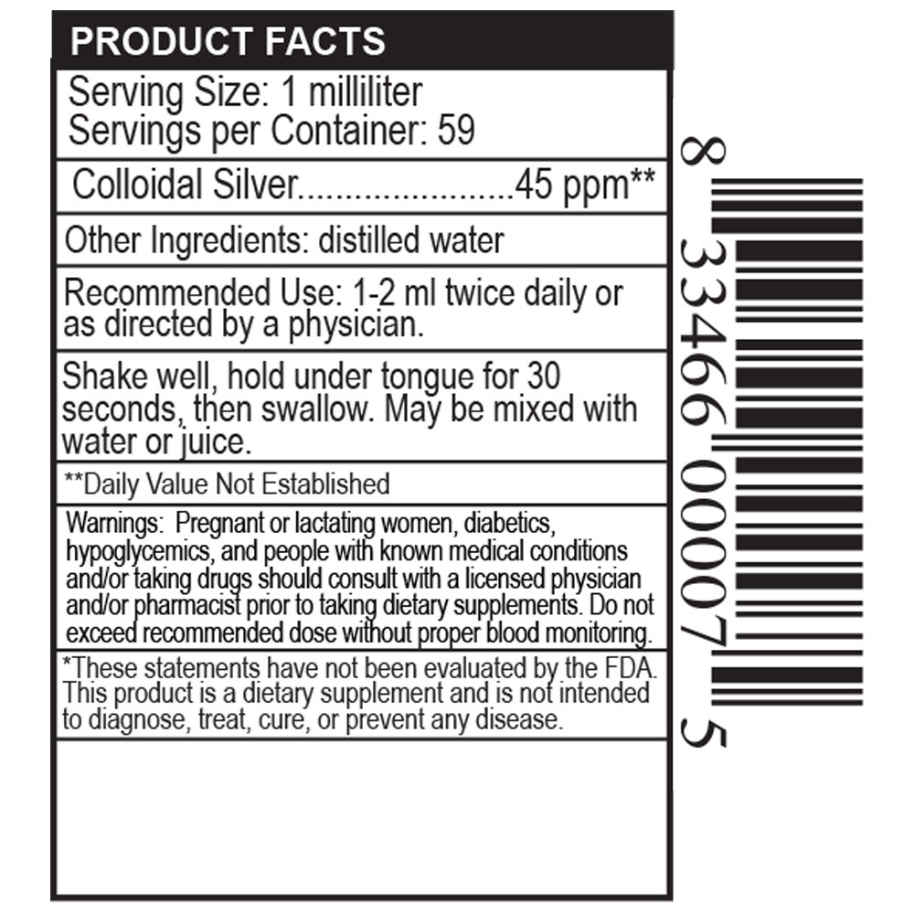 Private Label Colloidal Silver Drops Manufacturer