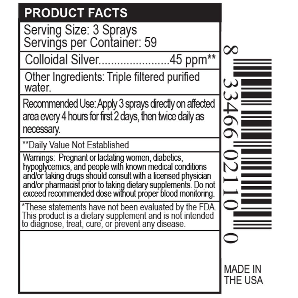 Private Label Colloidal Silver Spray Manufacturer
