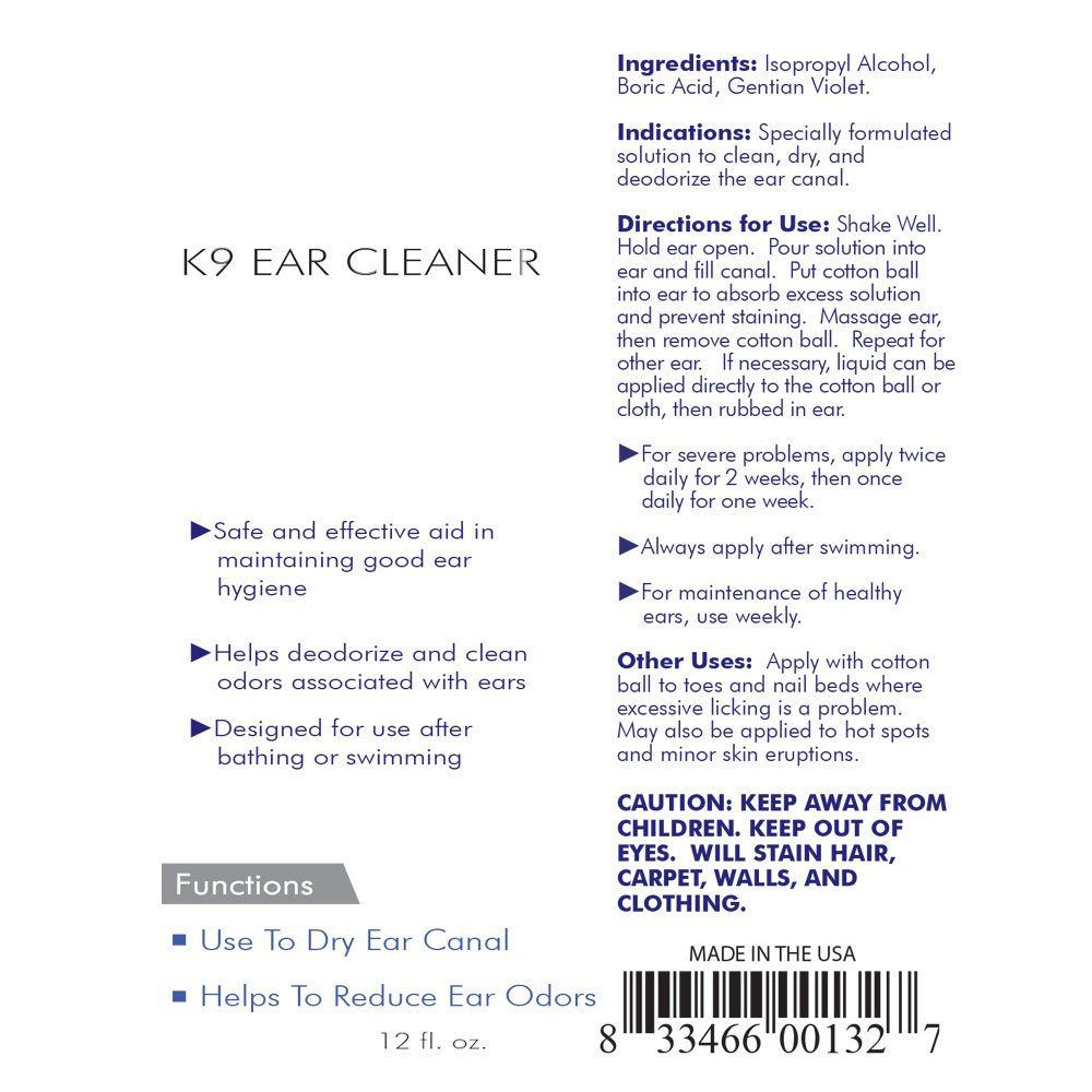 Private Label Dog Ear Cleaner Solution Manufacturer