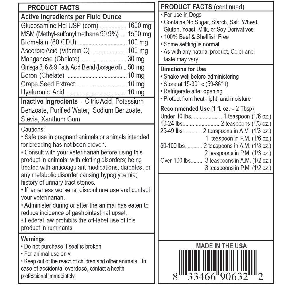 Private Label Vegetarian Dog Glucosamine