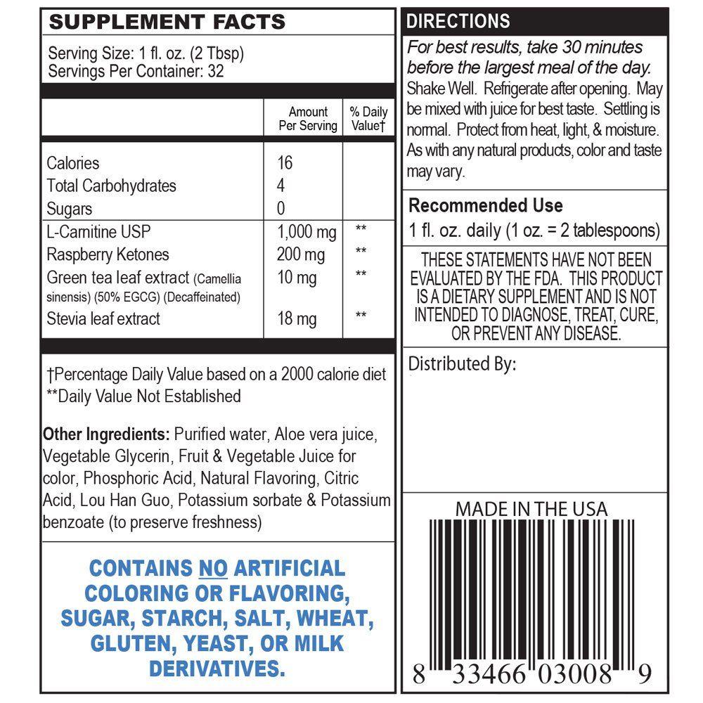 Private Label L-Carnitine Liquid Supplement Manufacturer