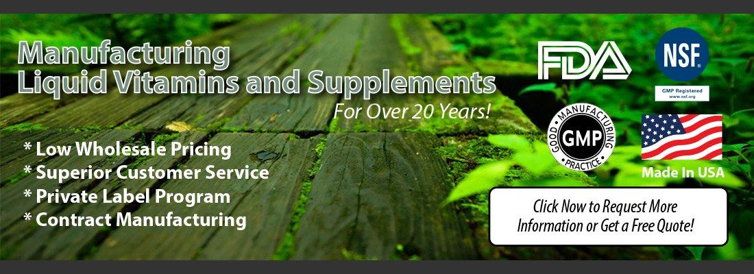 Private Label Vitamin and Liquid Supplement Manufacturing