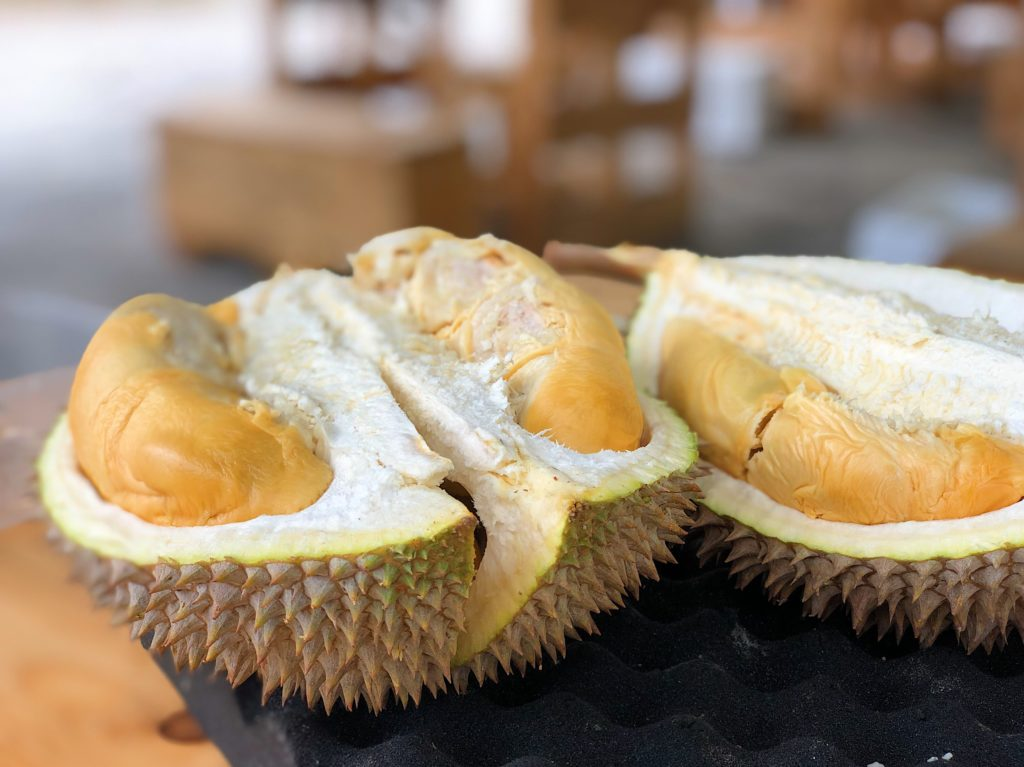 durian fruit on table in weird fruits you may not know exist