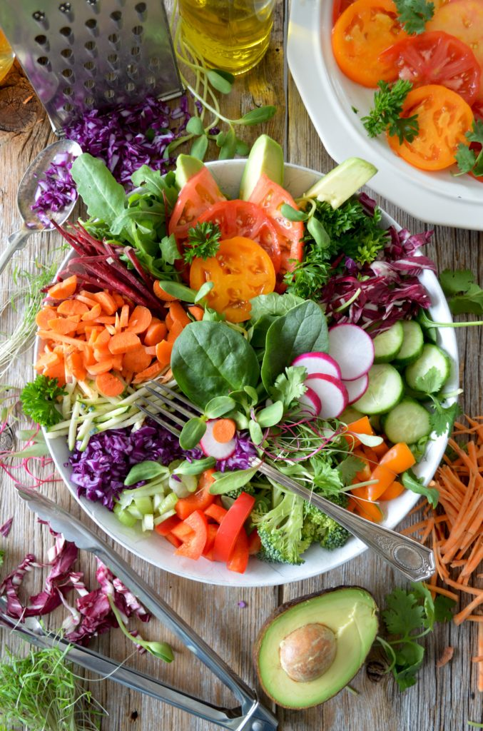healthy salad including essential vitamins